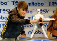 Justin Bieber and mRobo Ultra Bass Toy Robot