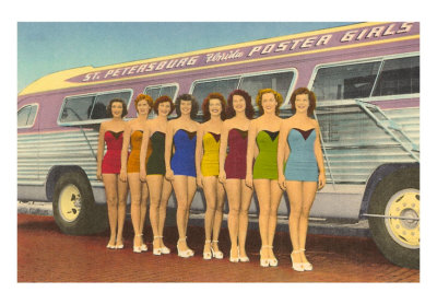 FL-00745-CBathing-Beauties-by-Bus-St-Petersburg-Florida-Posters