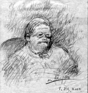 Mr. Ishiguro's sketch of Walter Amos